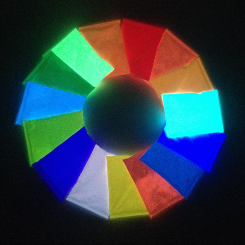 厂家直销超亮夜光粉15色可选荧光粉发光粉可制夜光涂料夜光漆50克