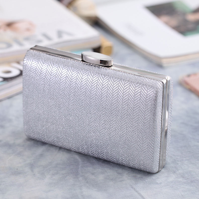 Clutch Bag Dinner Bag Plaid Synthetic Leather Hard Shell Women's Bag Small Square Bag NHYG182997