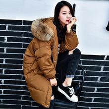 2017新款冬季韓版羽絨服女中長款bf寬松加厚羽絨服大碼女裝外套潮