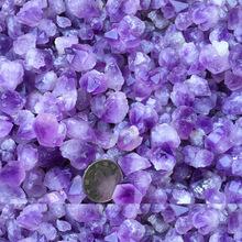 天然紫晶单晶体原石 粉黄白水晶?#25346;?#33609;紫水晶单晶体佛教用品直销