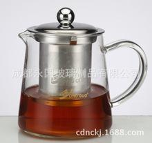 电陶炉直火加热玻璃壶烧水壶泡茶壶耐高温不锈钢滤网玻璃手柄