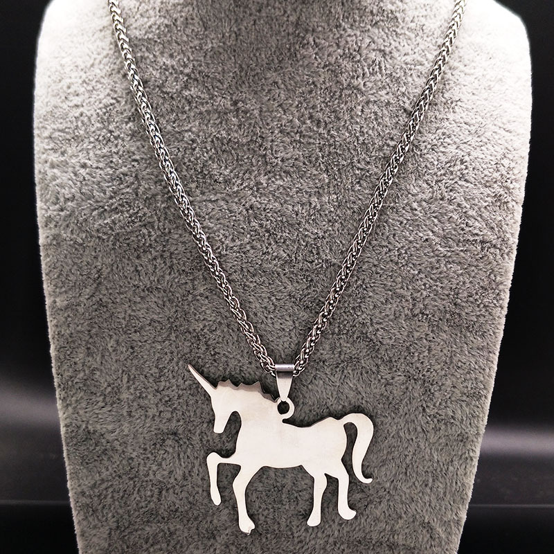 Fashion Titanium&Stainless Steel Fine polishing electroplating necklace Animal (Single pendant)NHSK0196-Single pendant