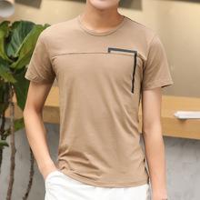夏季新款短袖t恤男士半袖衣服潮流修身个性体恤圆领男装厂家直销