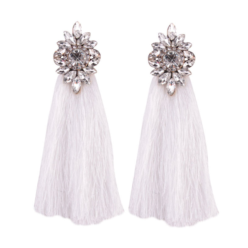 Occident and the United States alloy Diamond earring (Beige)NHJQ9238-Beige