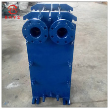 板式不锈钢换热器小区供暖板换蒸汽冷凝器换热器厂家电泳漆降温机