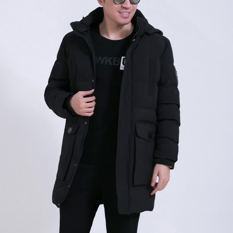 棉袄男中老年大胖子休闲棉服冬装男款加厚外套加大码棉衣男中长款