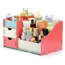 觅秀尔厂家春季81新款桌面木质化妆盒韩版DIY木质化妆品收纳