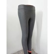 修身女式瑜伽裤 纯色低腰速干紧身裤 秋冬弹力跑步九分紧身运动裤