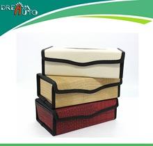 优质小羊皮车用纸巾盒/抽黑米灰棕 盒装 真皮质感汽车用品