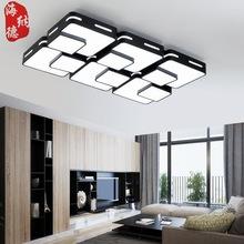 现代简约LED大厅吸顶灯长方形客厅灯卧室餐厅客厅灯饰灯具铁艺灯