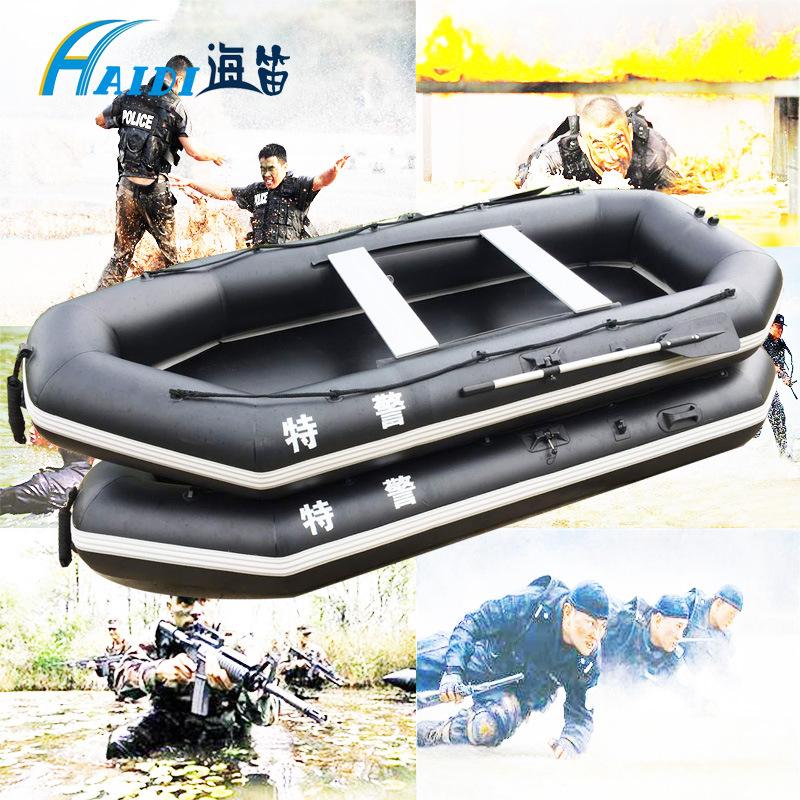 海笛充气钓鱼船 防汛抗洪冲锋舟救生橡皮艇 加厚皮划艇漂流船耐磨