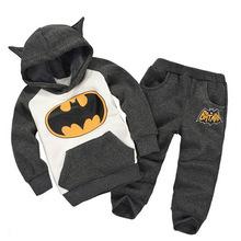 一件代發外貿童裝 2018秋冬新款男童蝙蝠卡通套裝 廠家直銷
