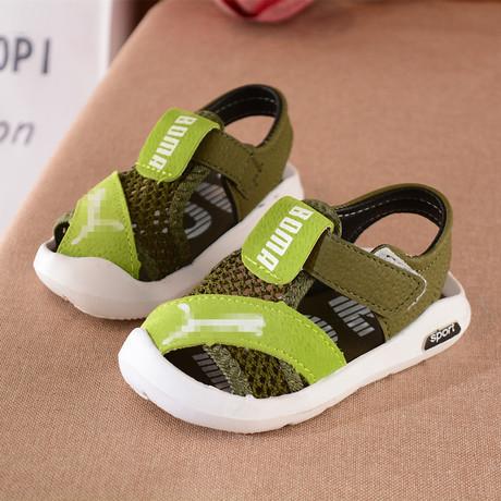 Giày xuân hè 2019 cho bé trai mới đôi giày đế mềm đế mềm đế xuồng nam bé Baotou dép thể thao Hàn Quốc giá sỉ Dép trẻ em
