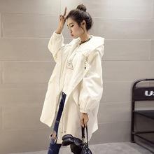 2019新款韩版中长款春款宽松学生风衣女春季外套欧洲站bf潮款
