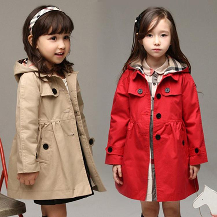 2020新款中大女童英伦风范风衣外套 春季中长款长袖童装风衣批发