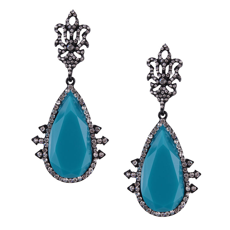 Occident and the United States alloy plating earring (blue)NHJQ9267-blue