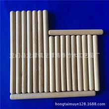 厂家直销直纹斜纹木榫木梢 木塞家具连接件 桉木实木圆棒支持订制