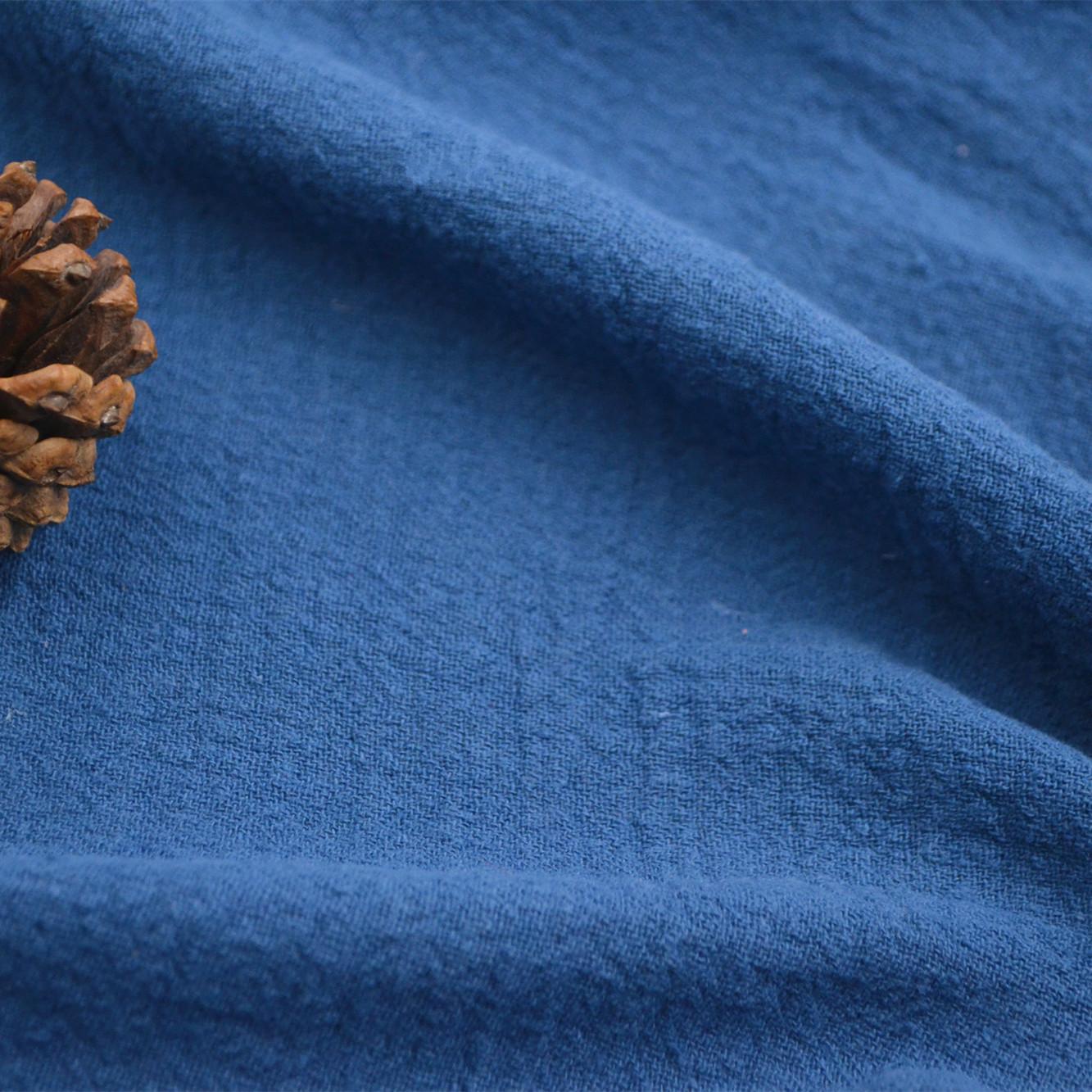 麻布批发亚麻棉面料 染色麻棉洗水皱 绉麻 民族风休闲服装面料布