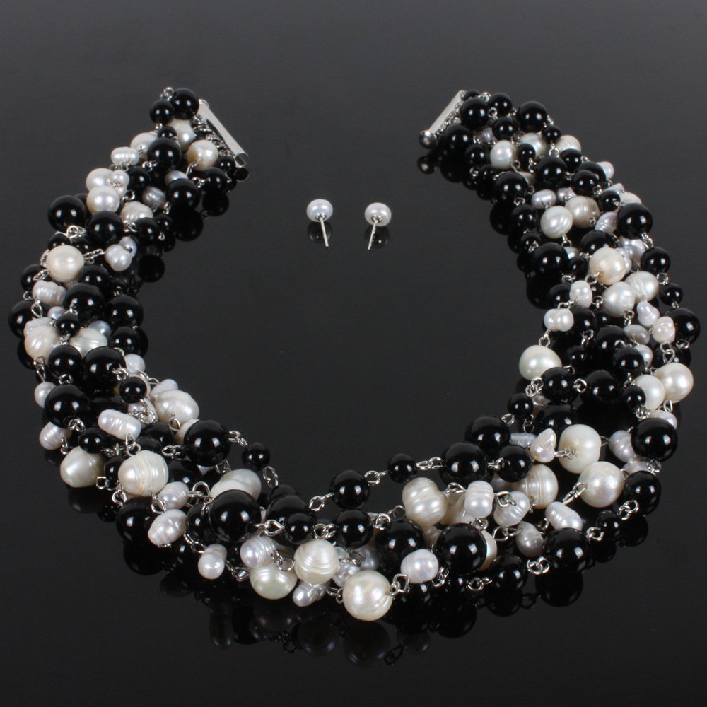 Occident and the United States pearlnecklace (White K)NHCT0129-White K