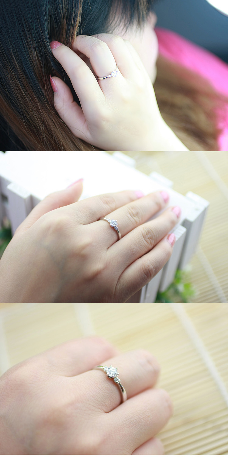 Alloy Korea Geometric Ring(Platinum-16) NHLJ3797-Platinum-16