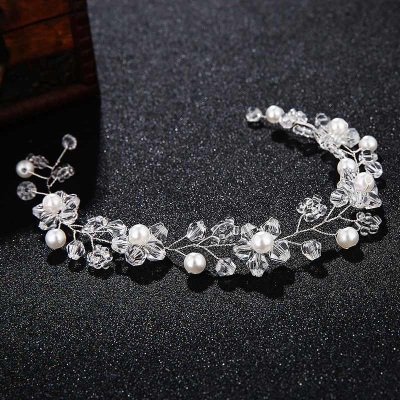 Beads Simple Flowers Hair accessories  Alloy NHHS0489Alloy