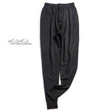KAKA自留特惠 歐洲客戶貼身內襯款保暖精梳細羊毛打底修身男長褲