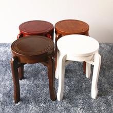 实木圆凳家用木凳子橡木仿古餐桌创意凳饭店板凳木质纯实厂家直销