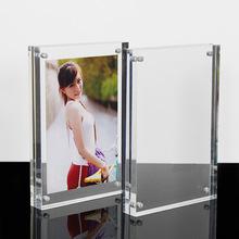厂家直销透明亚克力相框6寸7寸a4强磁双面展示架亚克力桌牌可定制