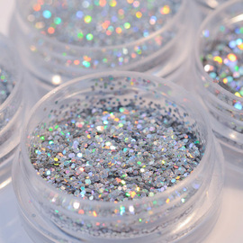 [Ding Duan Manicure] Manicure Laser Gold and Silver Glitter Sequins Mix Glitter Powder Gradient Phototherapy Powder