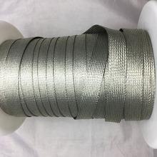 扁平鍍錫銅編織帶20MM柔軟可繞銅絲編織網管蛇皮網 金屬屏蔽套管