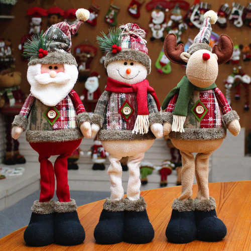 2pcs Christmas Decoration Gifts Santa claus Christmas Decoration Dolls Christmas Dolls Christmas Elk Window Christmas Products