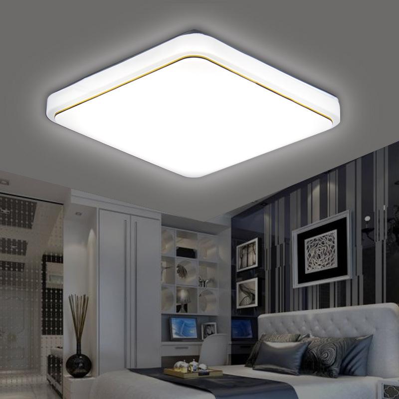 led吸顶灯 简约方形灯饰吸顶灯 客厅卧室灯具吸顶灯led批发