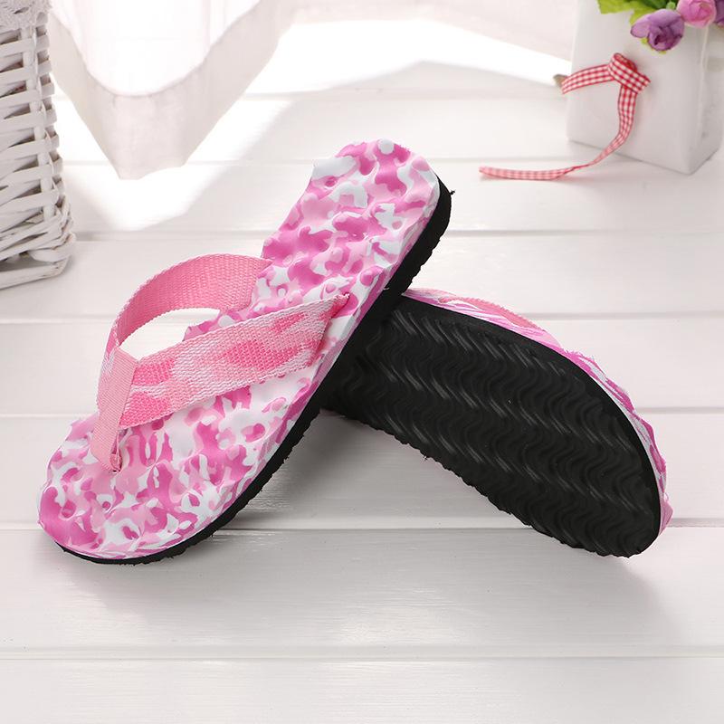 新款情侣拖鞋迷彩按摩拖鞋简约女士拖鞋凉拖代发