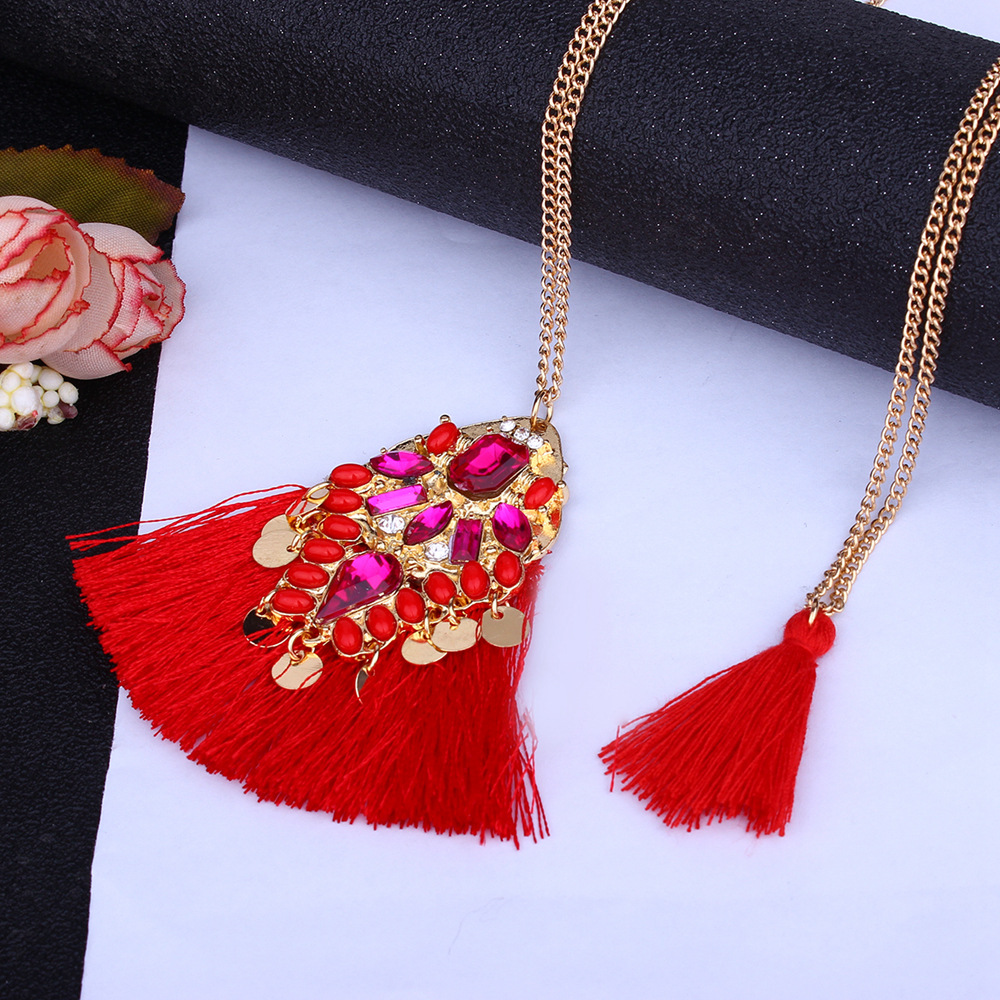 Fashion Alloy Tassel  NHMD4169-red
