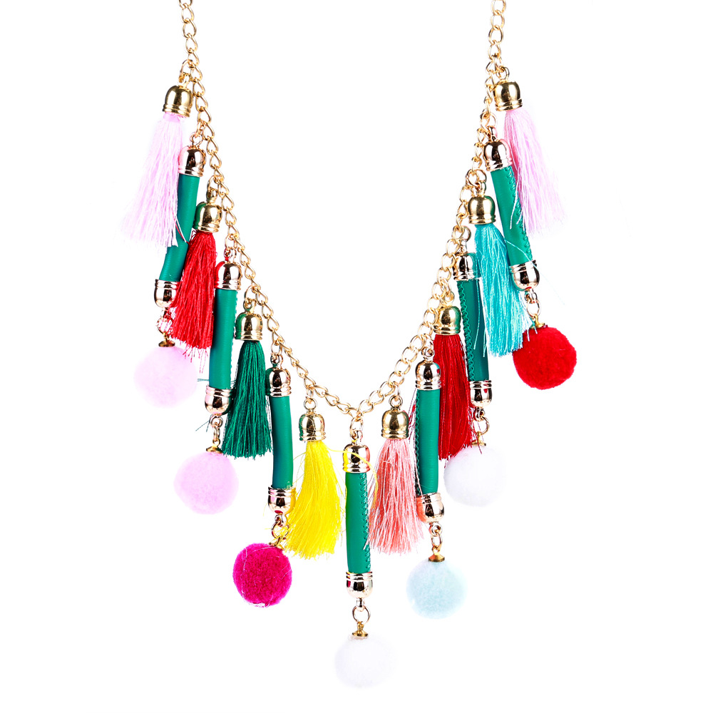 Exotic alloy plating necklace (color)NHJE0446-color