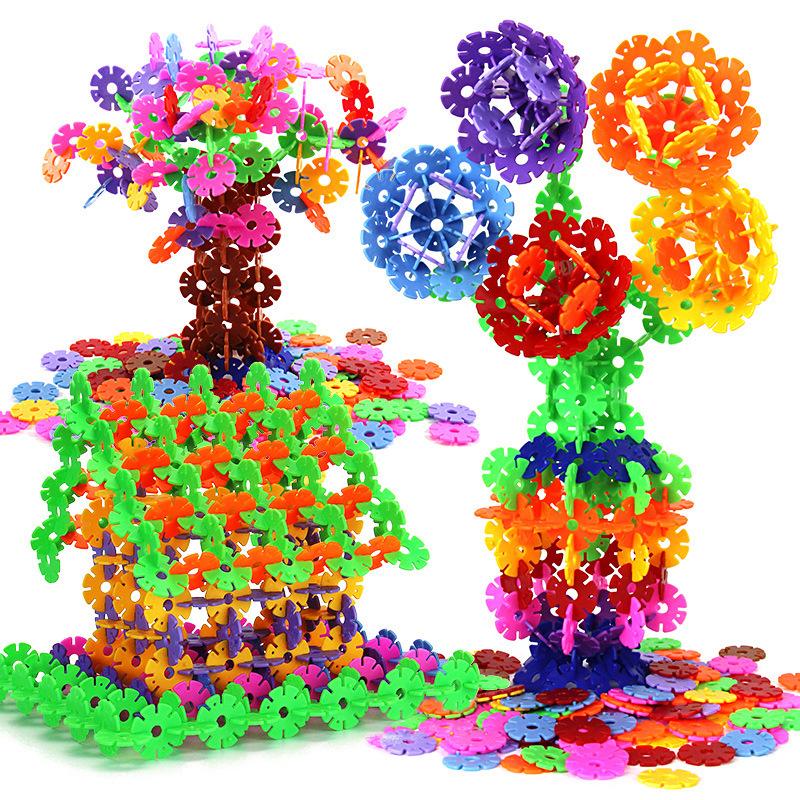 拼插积木智力雪花片 儿童智力早教益智玩具 雪花片积木拼图玩具