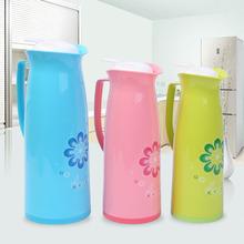 时尚印花家居450ML保温壶防滑手柄便捷开盖热水壶PP塑料保温瓶