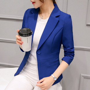 2020 spring and autumn new women's short coat slim slimming women's suit long-sleeved small suit professional women's clothing