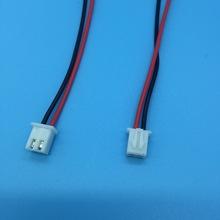 XH端子线 2.54端子线2P端子线束加工红黑电子线1007AWG24镀锡铜