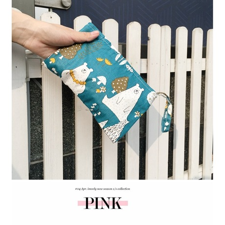 Q47 Mori vải đồng xu ví túi ly hợp Túi vải sáng tạo Túi đựng túi xách Điện thoại di động Mini