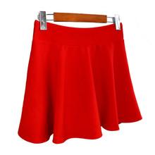 批发 2018夏天短款A字裙广场舞大码内衬短裙水兵舞半身裙一件代发