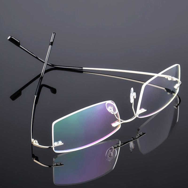 超弹金属无框男女眼镜架 超轻镜近视镜框  可折叠镜腿  858