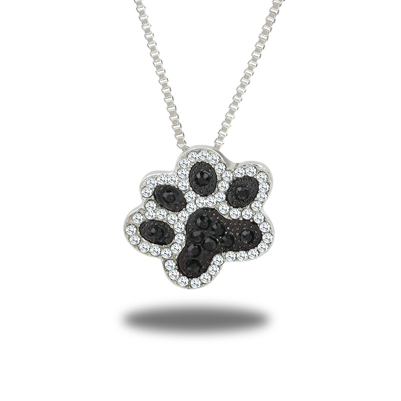 Best selling studded cat dog claw pendant necklace cat paw print necklace ankle necklace clavicle chain NHCU179740