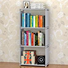 @簡易書架創意組合書柜置物架落地層架子兒童學生書櫥~ 書柜、架