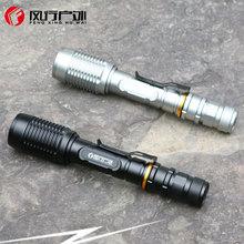 T6 LED 强光手电筒响尾蛇伸缩变焦2节18650加长充电防水正品批发