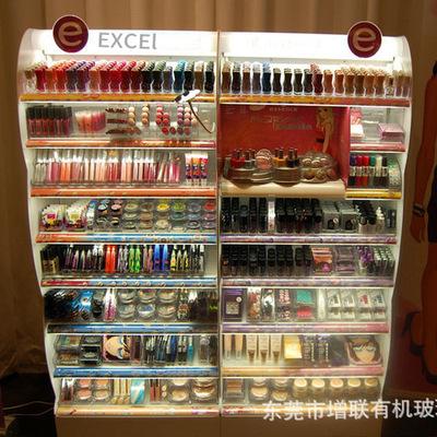 深圳压克力多层面膜展示架 化妆品展示架护肤品展示架厂家定做