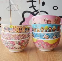 卡通密胺学生儿童餐具碗 日式创意卡通面汤碗米饭碗仿陶瓷
