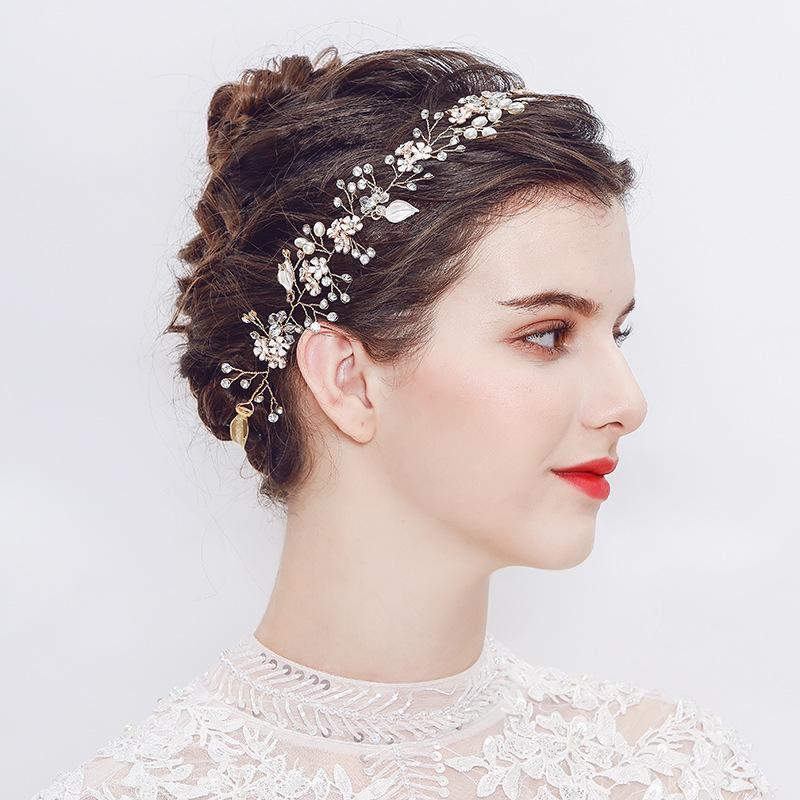 Beads Fashion Flowers Hair accessories  Alloy NHHS0285Alloy