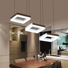 方形LED创意餐吊灯亚克力餐厅灯后现代简约客厅吊灯的图片和价格