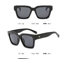 2019厂家批发太阳镜V牌大框男士同款眼镜复古墨镜820